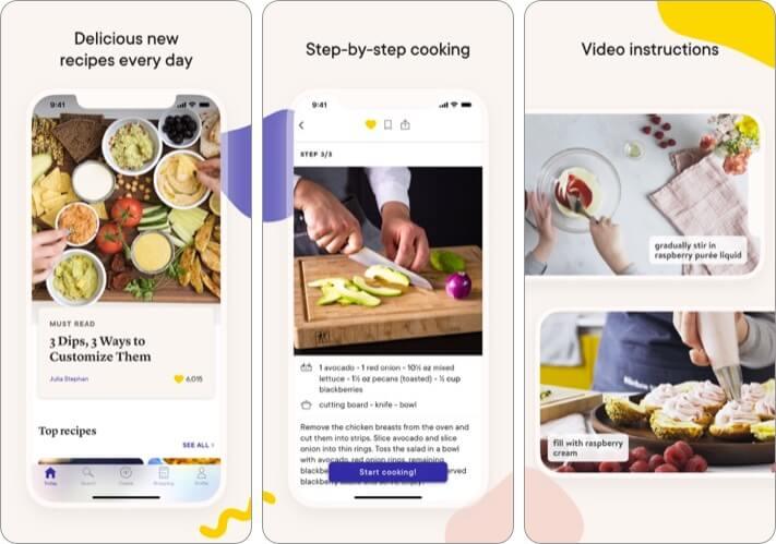 Kitchen Stories Recipes iPhone and iPad App Screenshot
