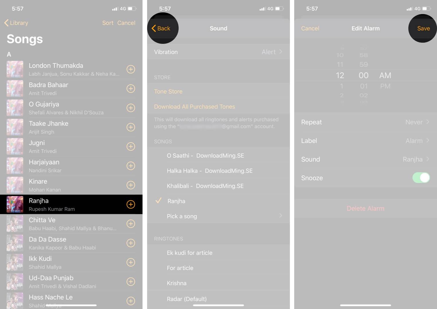 Set a Custom Alarm Tone in iOS 13 on iPhone