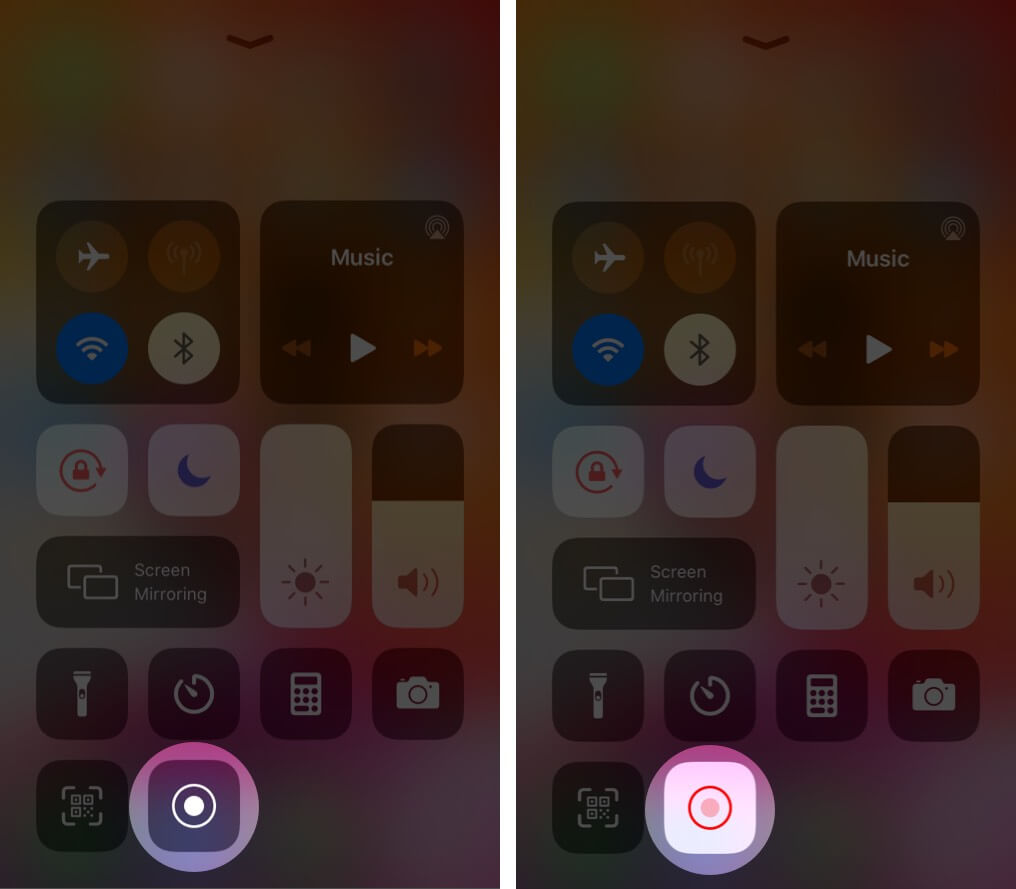 Turn On Screen Recording from Control Center on iPhone