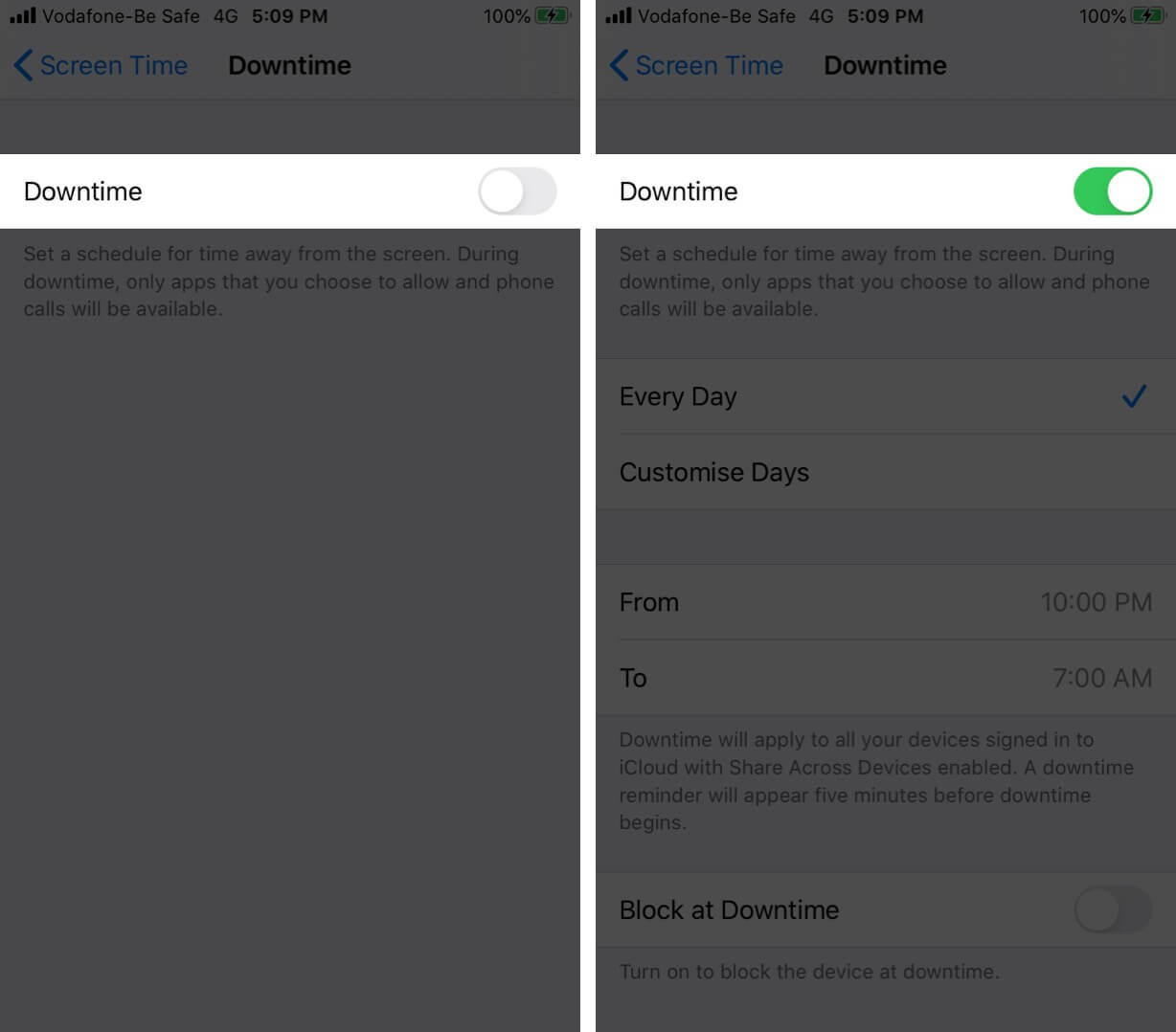 Turn on Downtime in Screen Time on iPhone