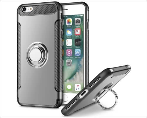 UEEBA Ultra Slim Ring Holder Case for iPhone SE 2020