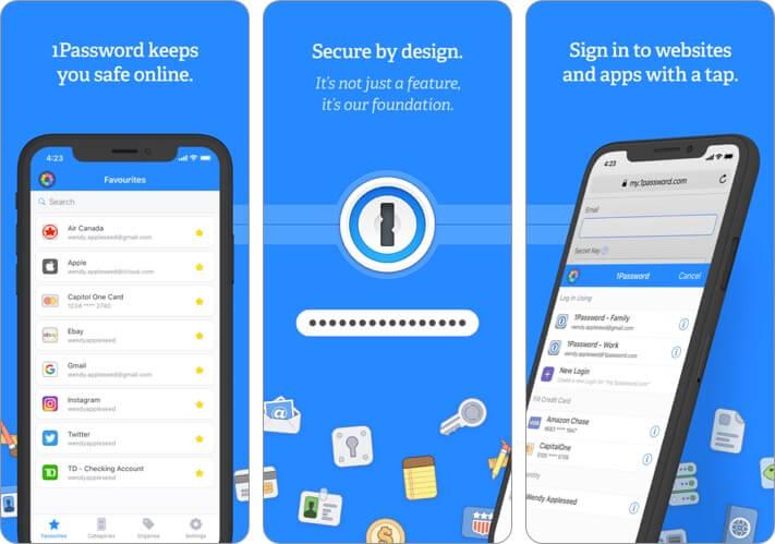 1Password iPhone and iPad App Screenshot