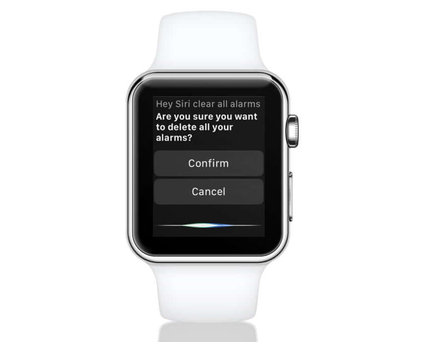 Ask Siri to Delete Alarm on Apple Watch
