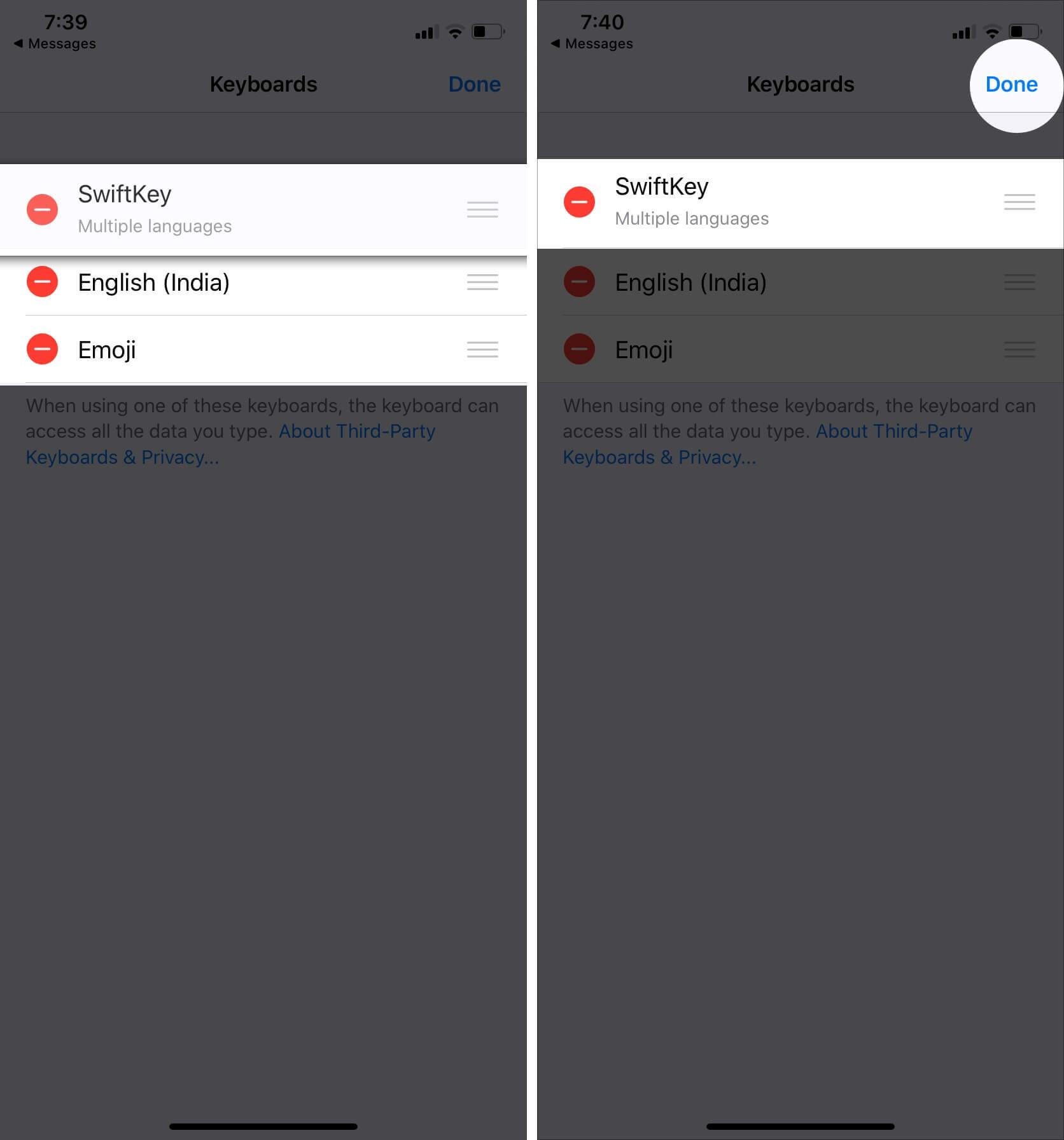 Change Default Keyboard on iPhone and iPad