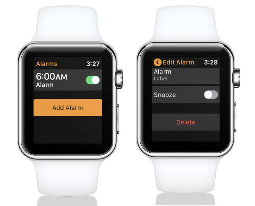 Delete Alarm on Apple Watch