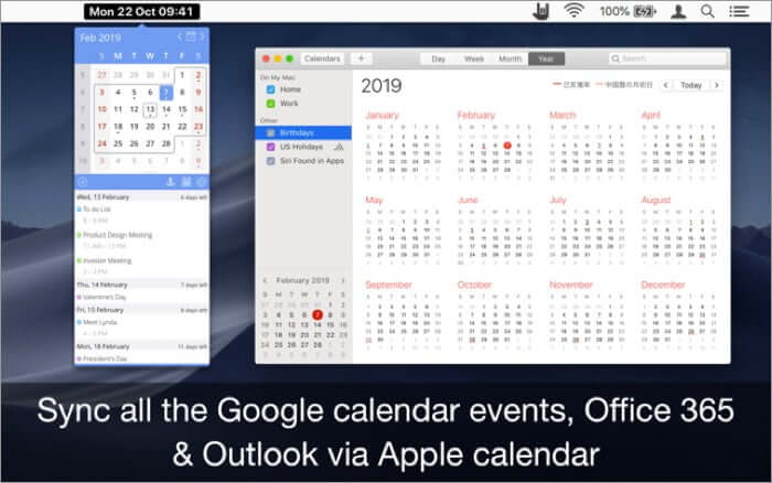 EzyCal Mac Calendar App Screenshot