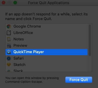 Force Quite App on Mac