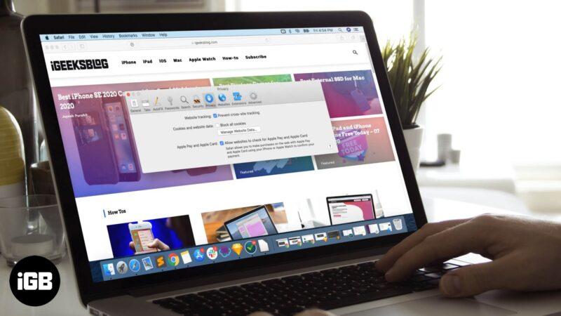How to Enable Cookies in Safari on Mac