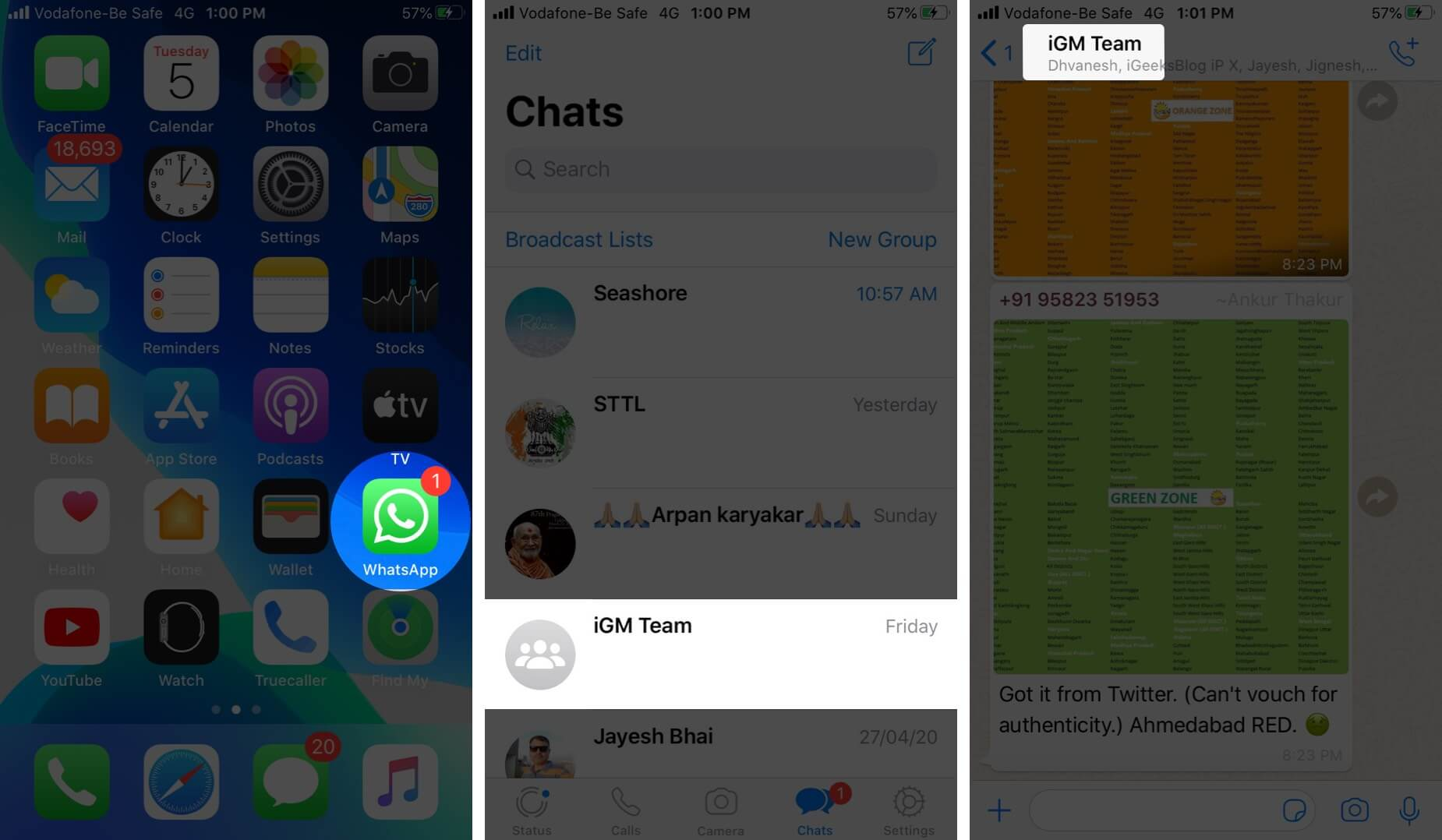 Open WhatsApp Tap on Group and Tap on Group Name