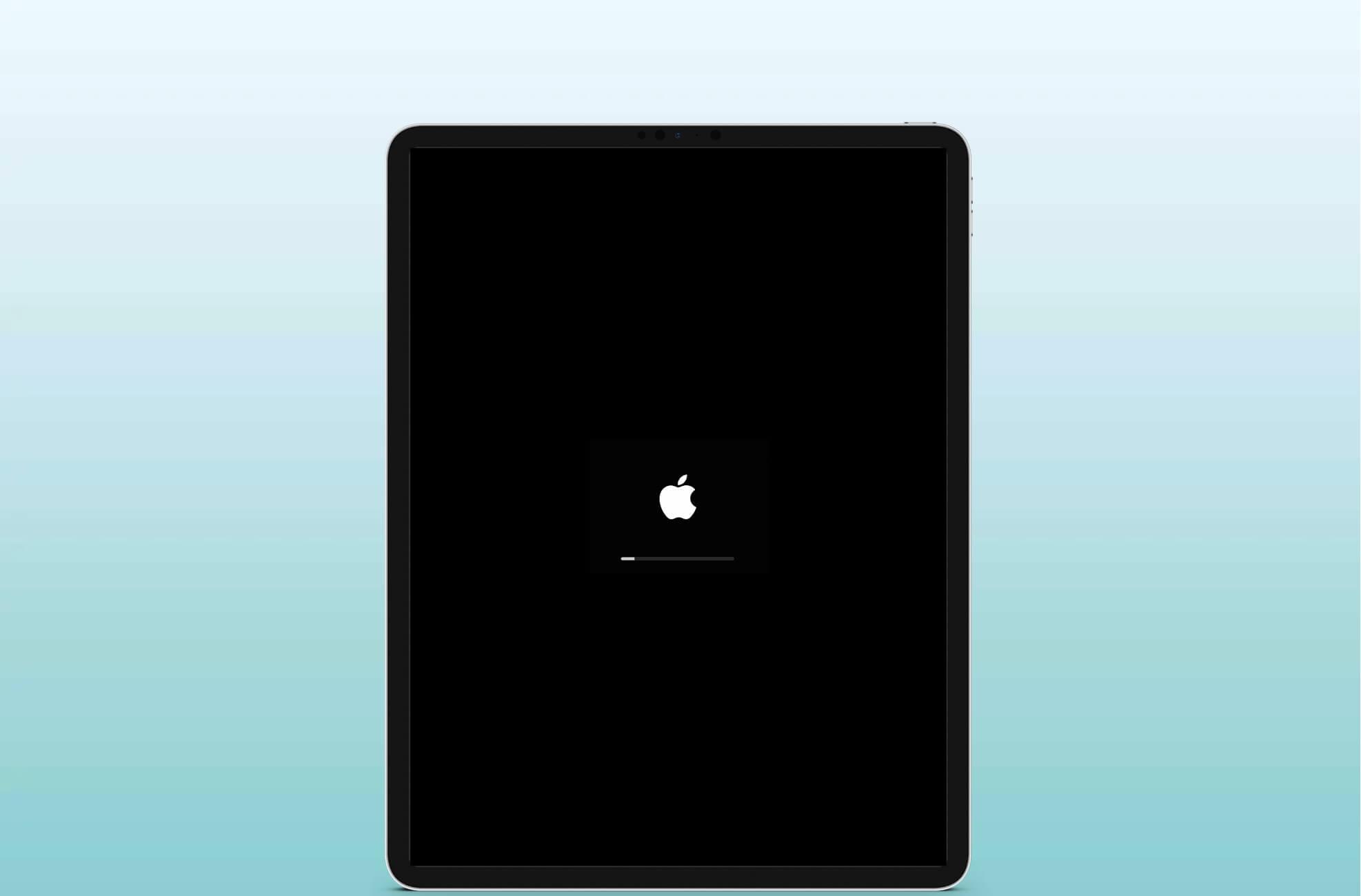 Restart iPad that has Face ID