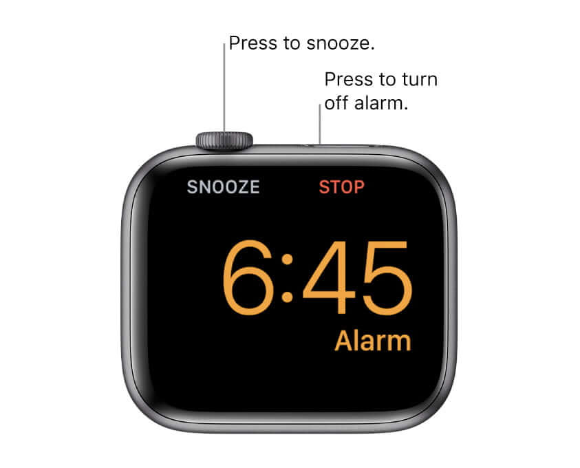 To turn off the alarm or snooze in the Nightstand Mode