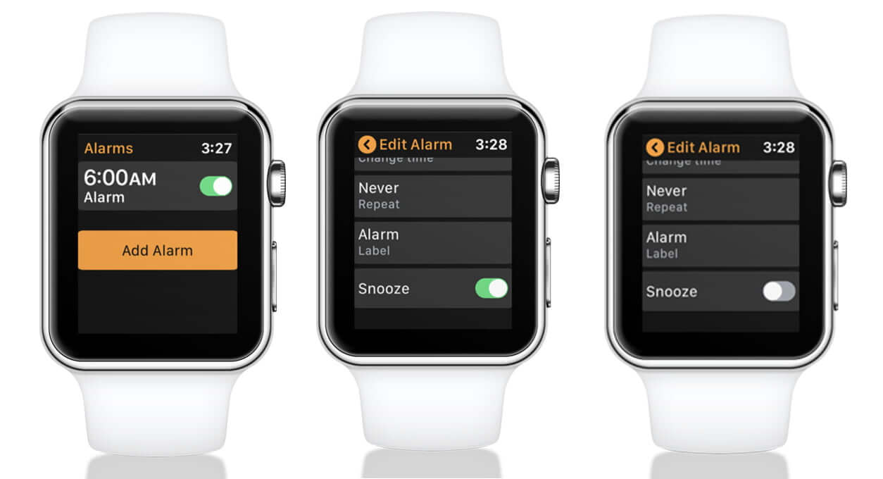 Turn Off Snooze for an Alarm on Apple Watch