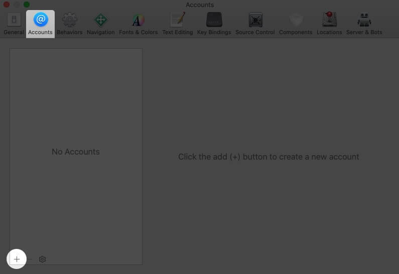 select accounts tab and click on plus in xcode preferences on mac