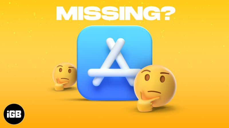 Restore App Store icon missing on iPhone