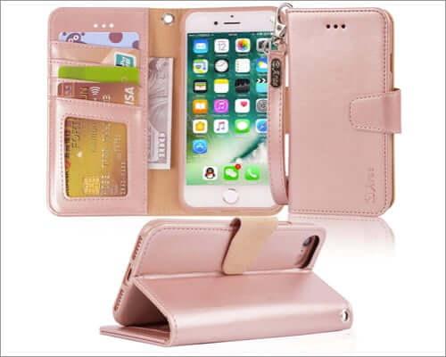 arae iphone se 2020 flip wallet case