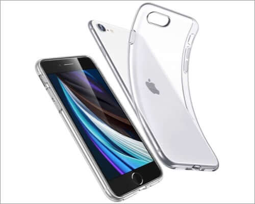 esr essential iphone se 2020 clear case