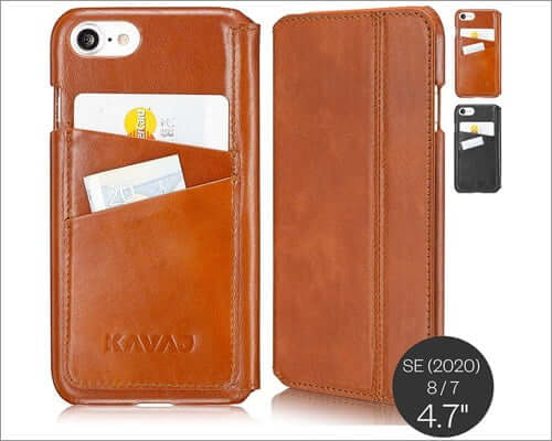 kavaj wallet folio case for iphone se 2020