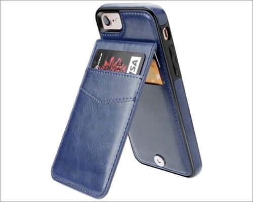kihuwey iphone se 2020 premium leather case