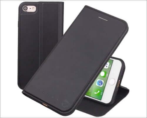 nouske iphone se 2020 folio wallet case