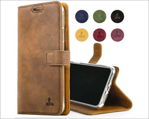 snakehive leather folio case for iphone se 2020