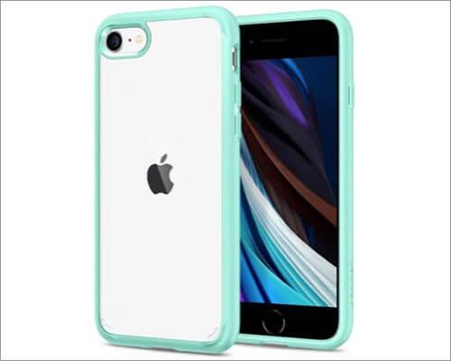 spigen hybrid bumper case for iphone se 2020