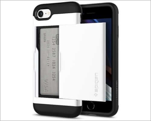 spigen iphone se 2020 card holder case