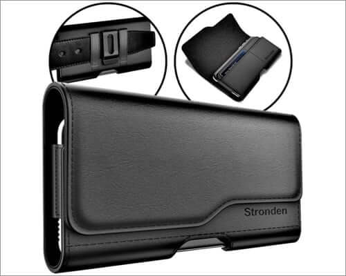 stronden leather belt clip case for iphone se 2020