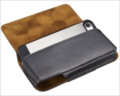 yuzihan iphone se 2020 leather belt clip case
