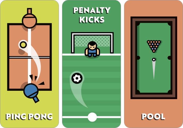 2 player games the challenge iphone app screenshot