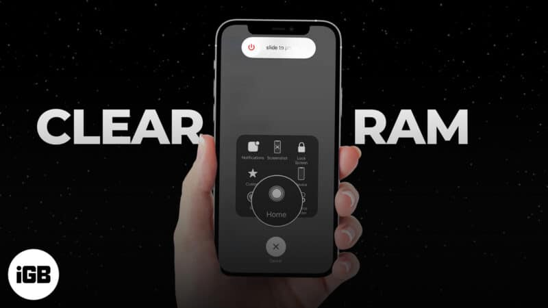 How to clear RAM on iPhone