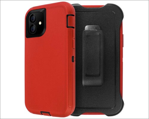 aicase iphone 11 belt clip holster case