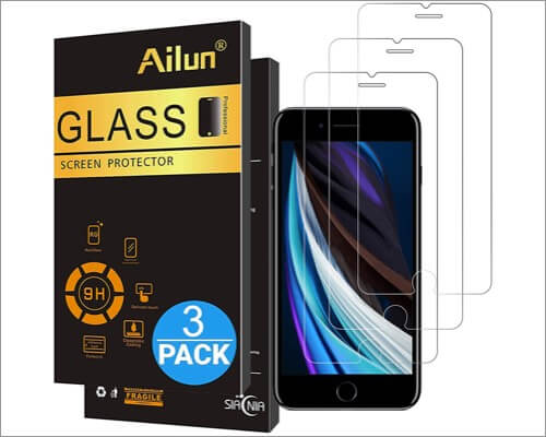 ailun iphone se 2020 screen protector