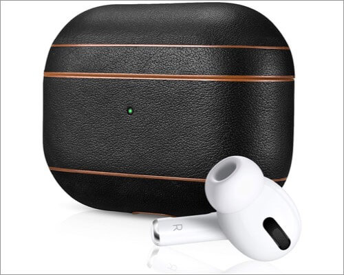 air vinyl airpods pro leather case