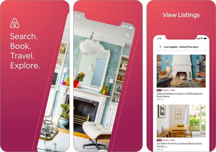 airbnb travel planner iphone and ipad app screenshot