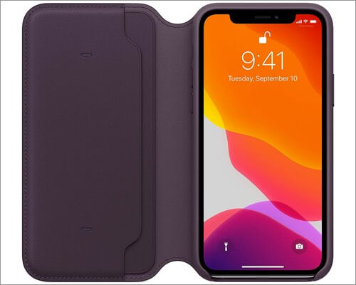 apple leather wallet case for iphone 11 pro