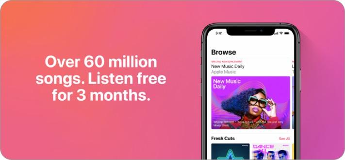 apple music iphone and ipad app screenshot