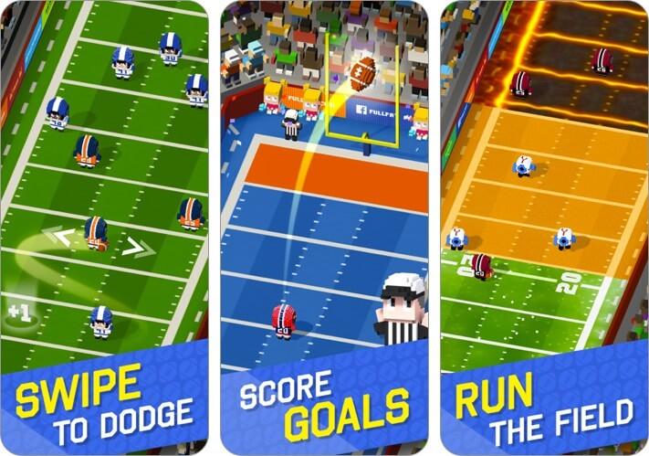 blocky football iphone and ipad offline game screenshot