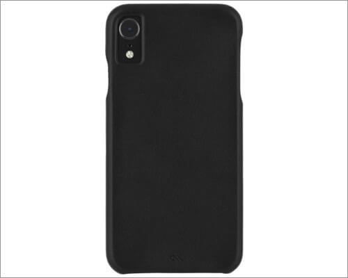 case-mate barely there leather case for iphone xr