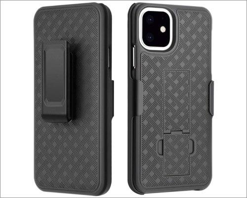casewind anti-scratch belt clip holster case for iphone 11