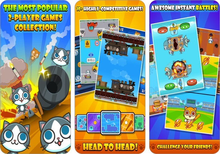 cats carnival 2 player iphone game screenshot