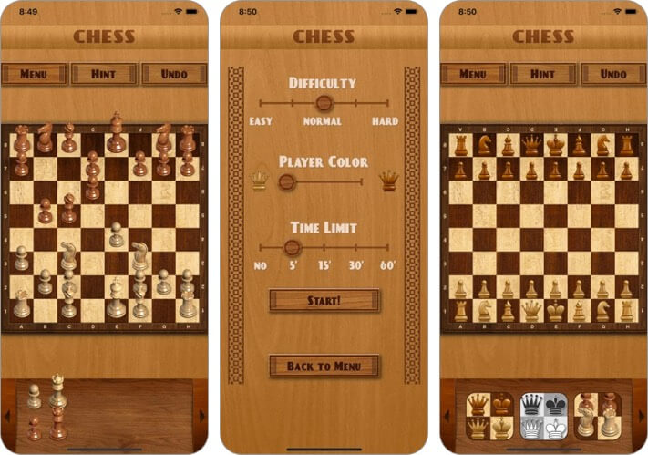 chess by vintolo iphone and ipad game screenshot
