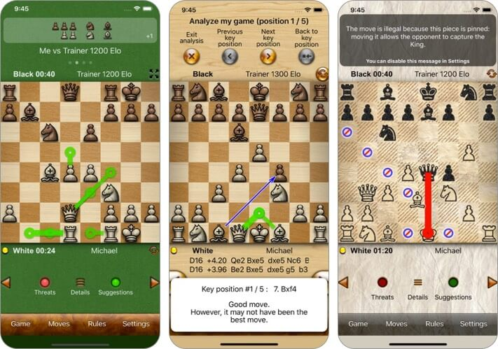 chess tiger iphone and ipad game screenshot