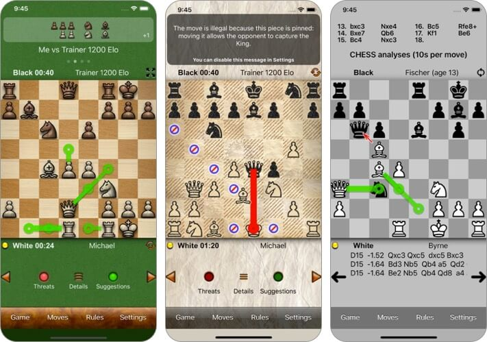 chess tiger pro iphone and ipad game screenshot