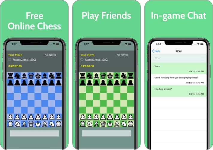 chess time multiplayer chess iphone and ipad game screenshot