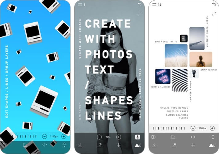 create logo design iphone and ipad app screenshot