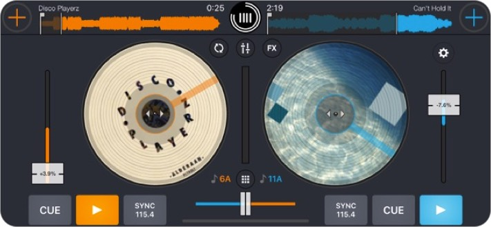 cross dj iphone app screenshot