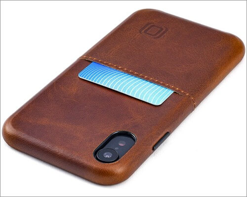 dockem genuine leather case for iphone xr