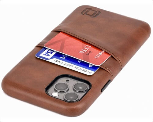 dockem synthetic leather case for iphone 11 pro