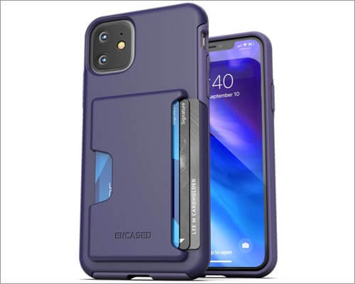 encased iphone 11 case with card holder
