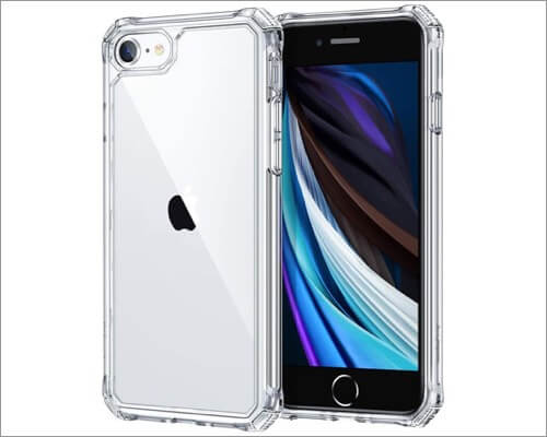 esr air armor military grade protective case for iphone se 2020